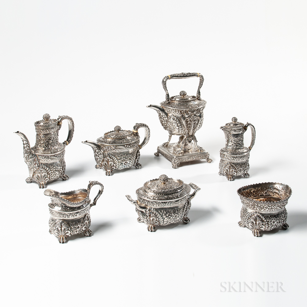 Seven-piece Tiffany & Co. Sterling Silver Tea and Coffee Service