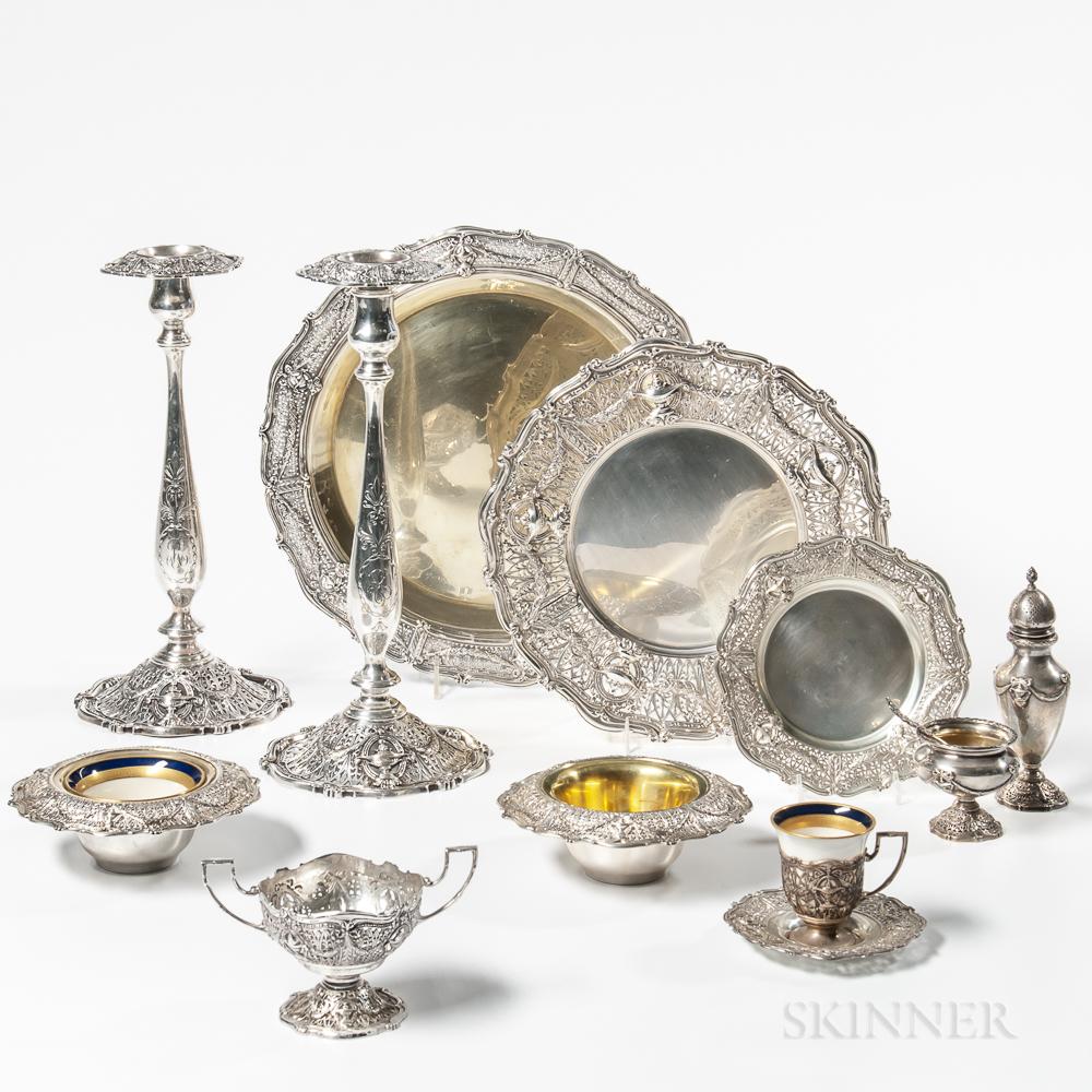 Group of Shreve & Co. Sterling Silver Tableware