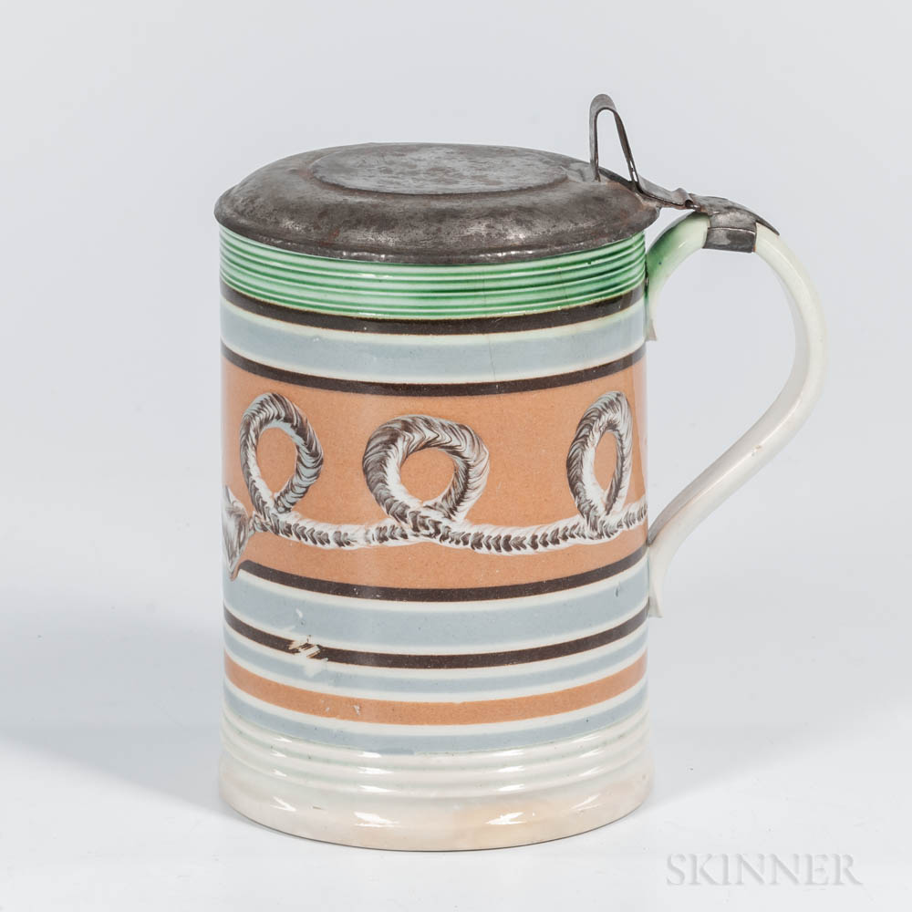 Cable- and Slip-decorated Quart Tankard
