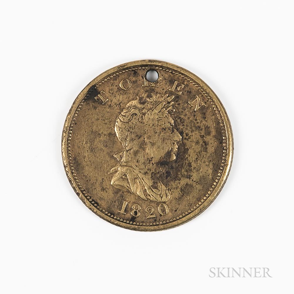 1820 North West Co. Brass Token