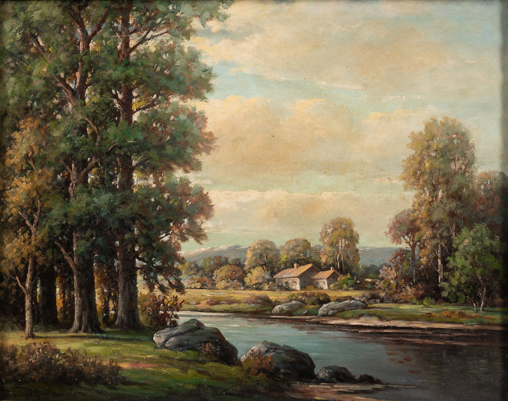 Attributed to Edward B. Gay (American, 1837-1928)    Landscape