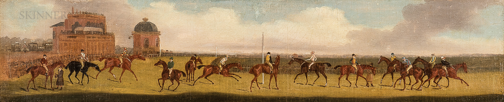 Clifton Tomson (British, 1775-1828)      Doncaster, Great St. Leger Stakes, 1816
