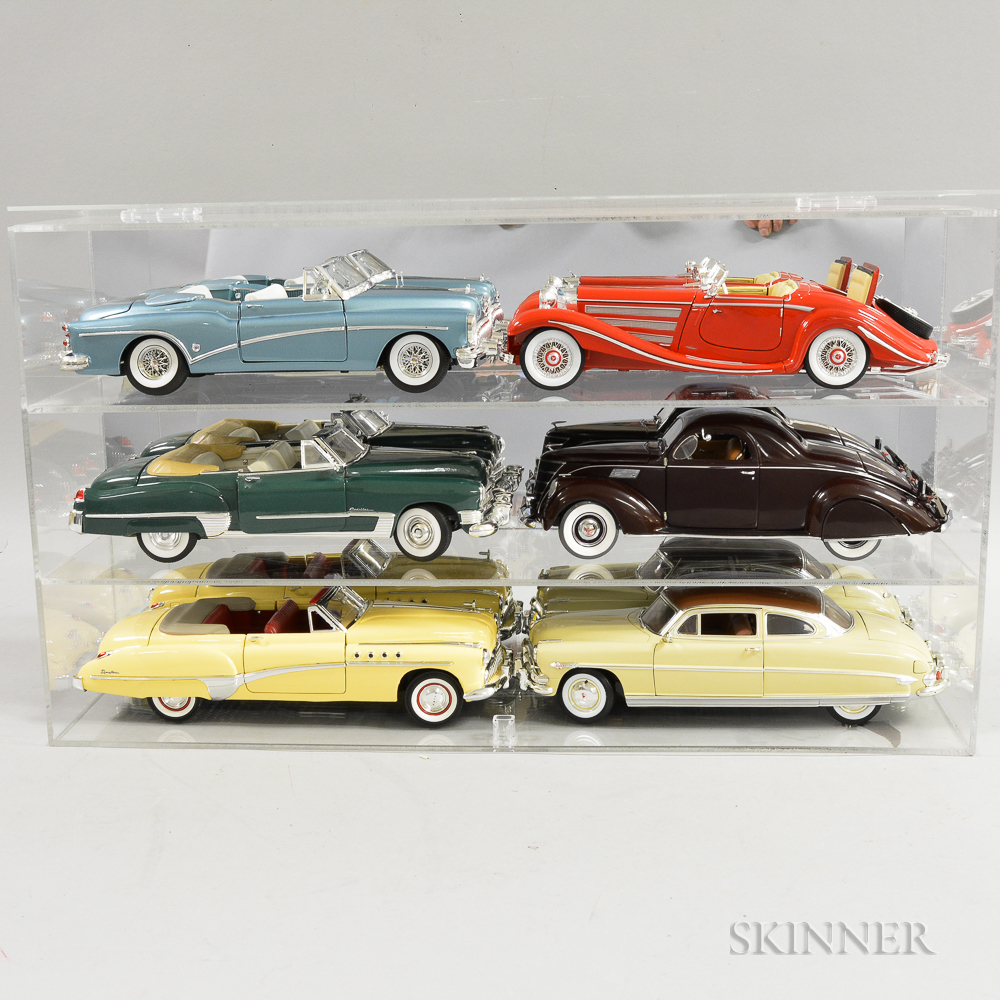Six Detailed Diecast Model Cars