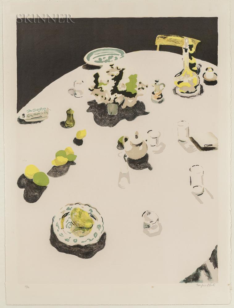 Fairfield Porter (American, 1907-1975)      The Table
