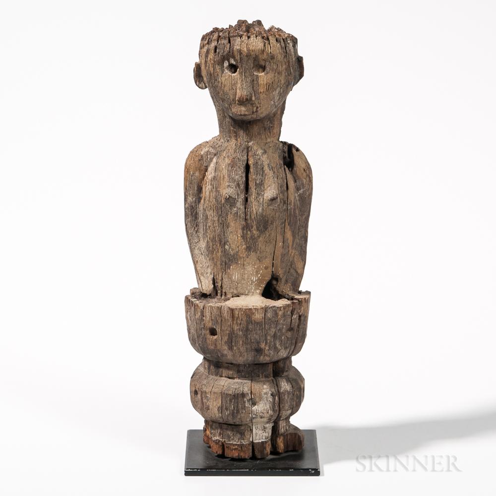 Indonesian Ironwood Post Figure