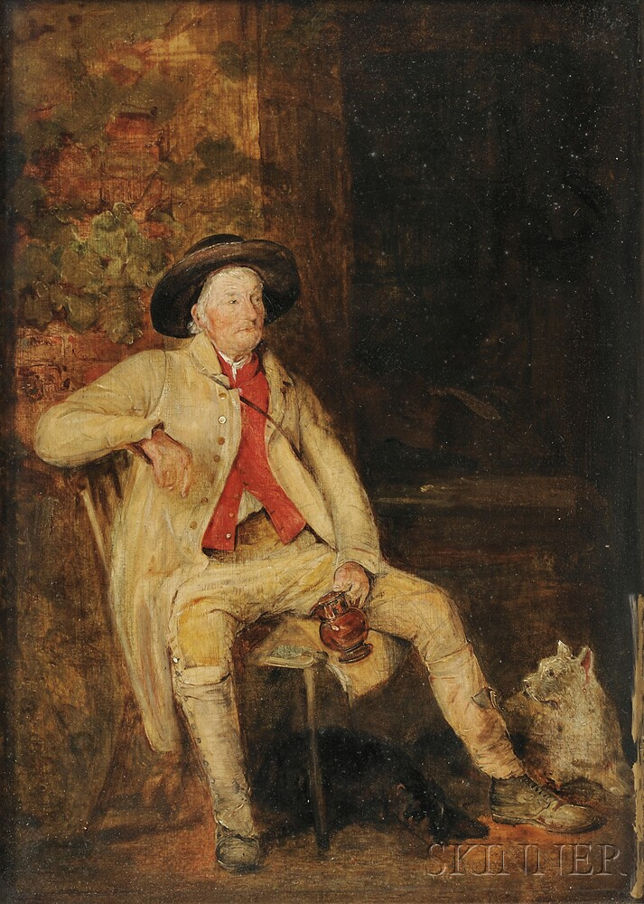 John Frederick Lewis (British, 1805-1876)      Old Farmer