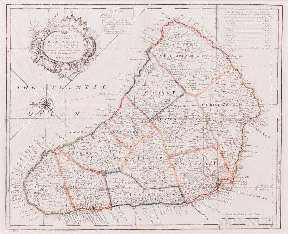 West Indies, Caribbean, Fifteen Maps, 17th to 19th Century.