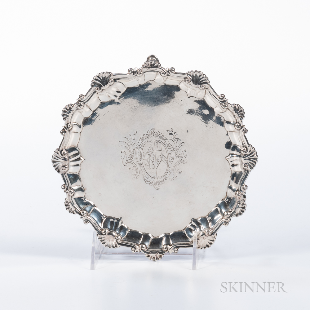 George II Silver Card Tray