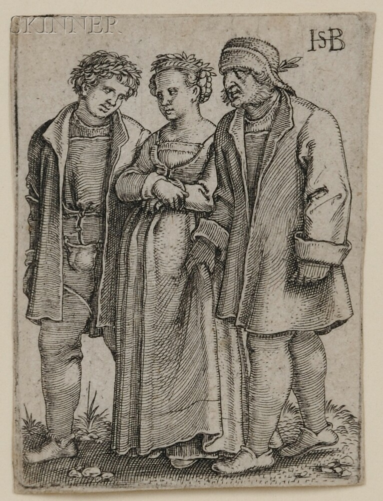 Hans Sebald Beham (German, 1500-1550)      Peasant Bride and Bride Groom