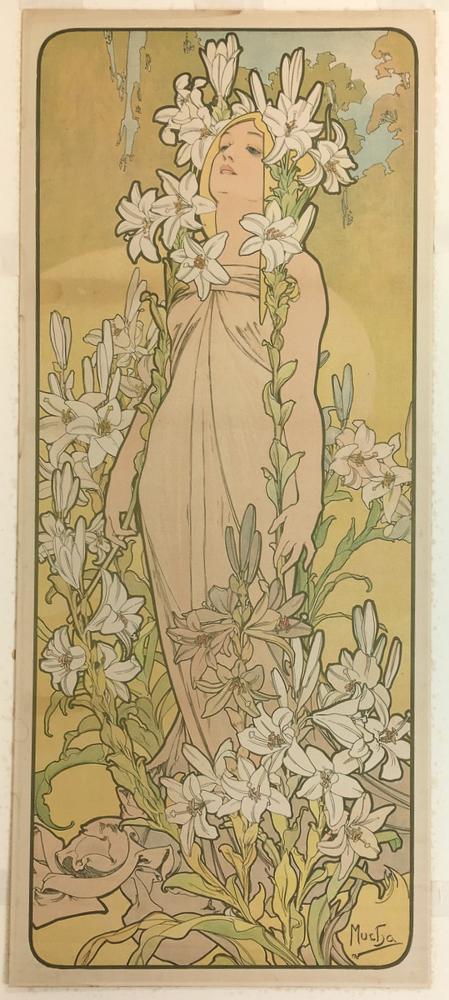 Alphonse Mucha (Czech, 1860-1939)      Les Lys