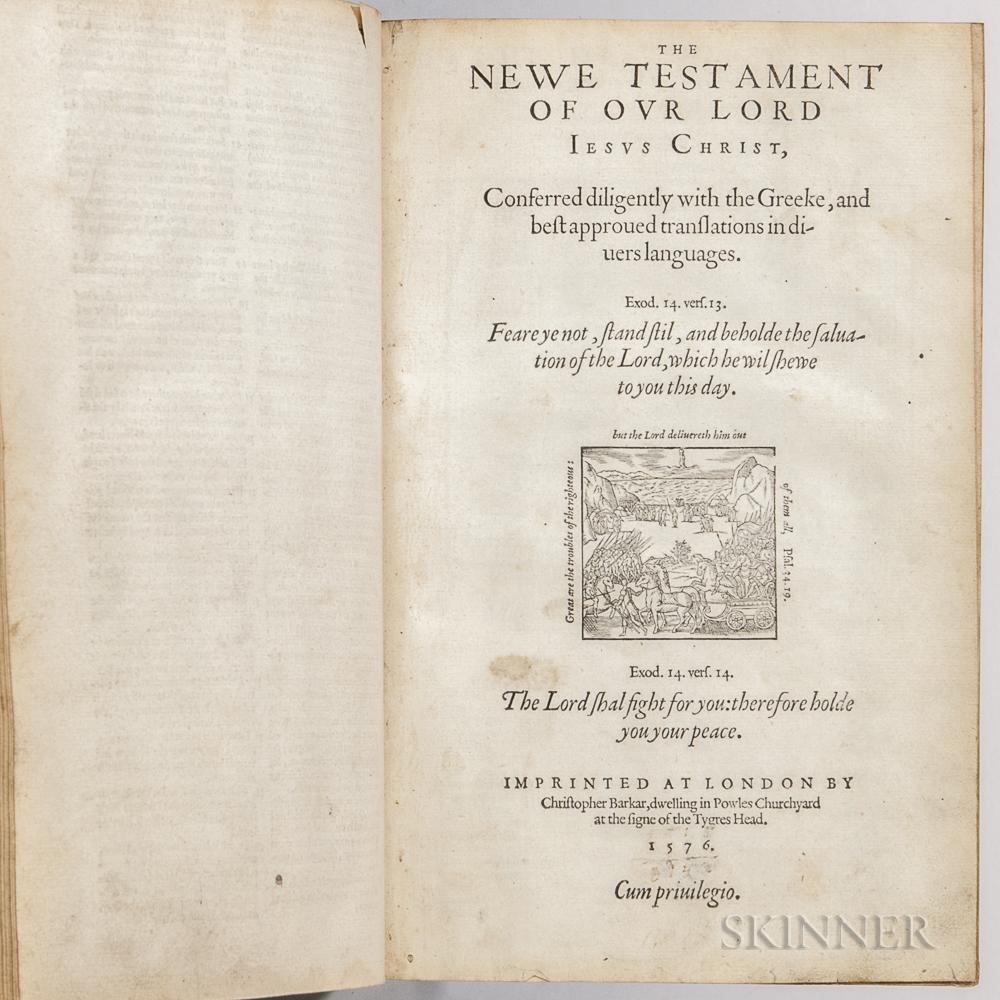 Bible, English, The Geneva Version.