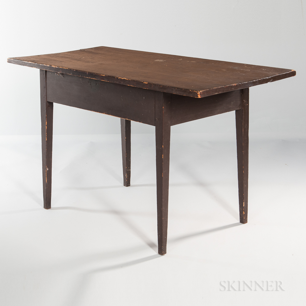Brown-painted Pine Table