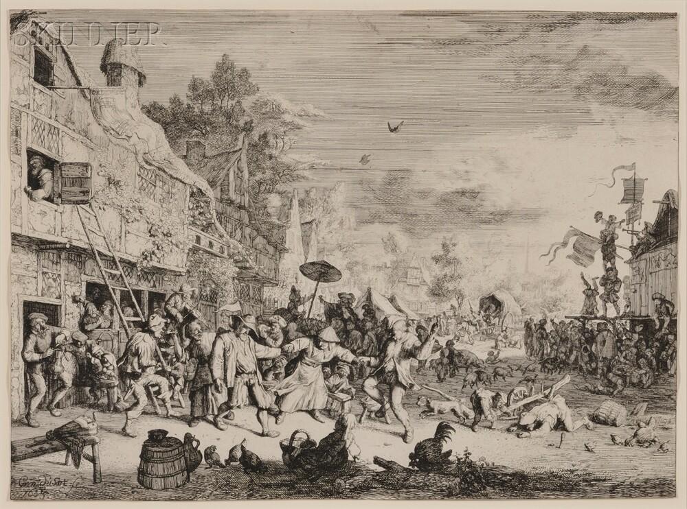 Cornelis Dusart (Dutch, 1660-1704)      The Large Village Dance