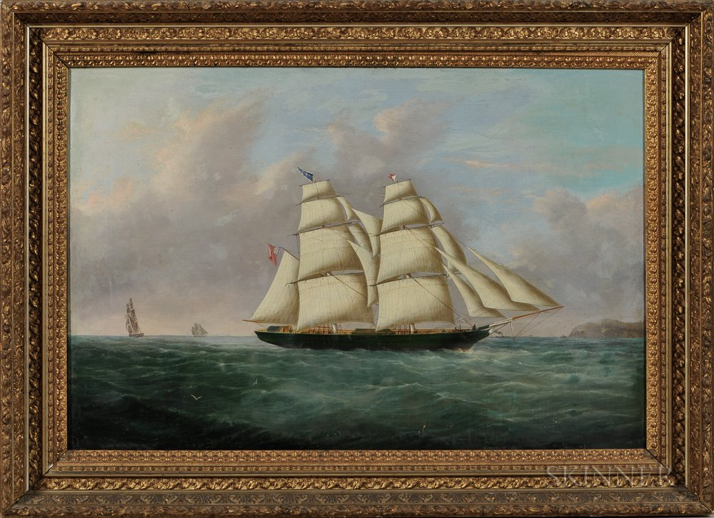 James Heard (British, 19th Century)      Portrait of a British Schooner
