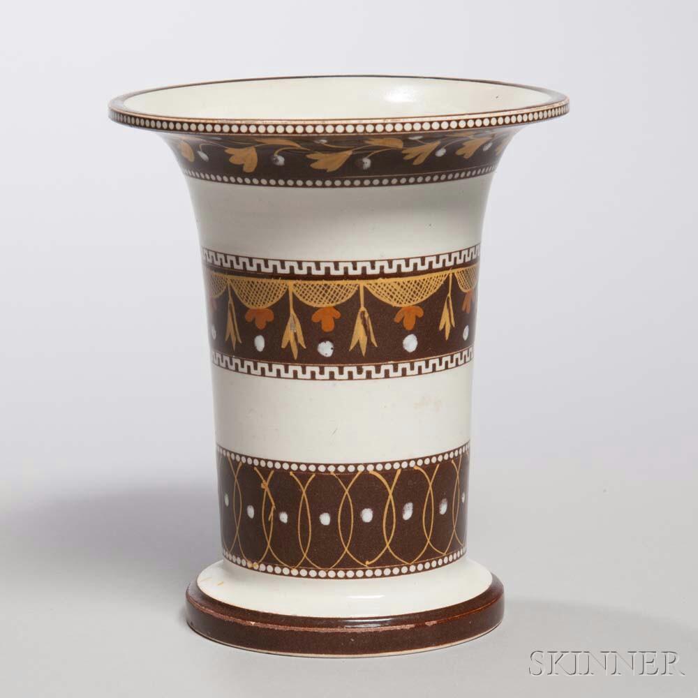 Pearlware Spill Vase