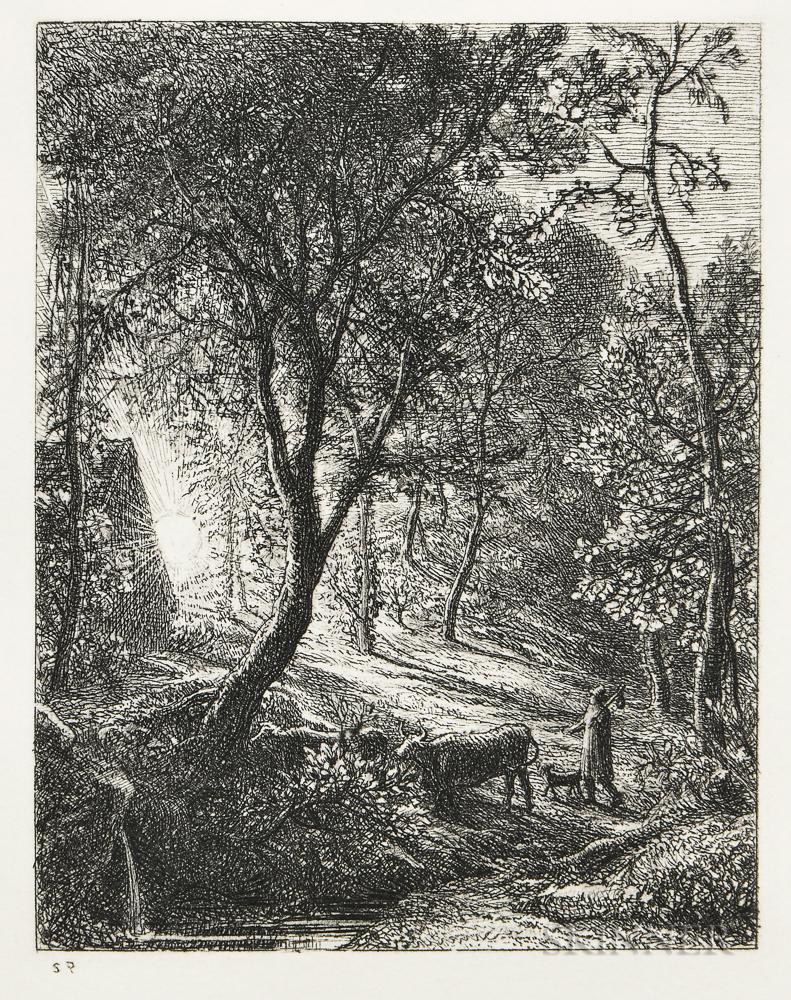 Samuel Palmer (British, 1805-1881)      The Herdsman's Cottage
