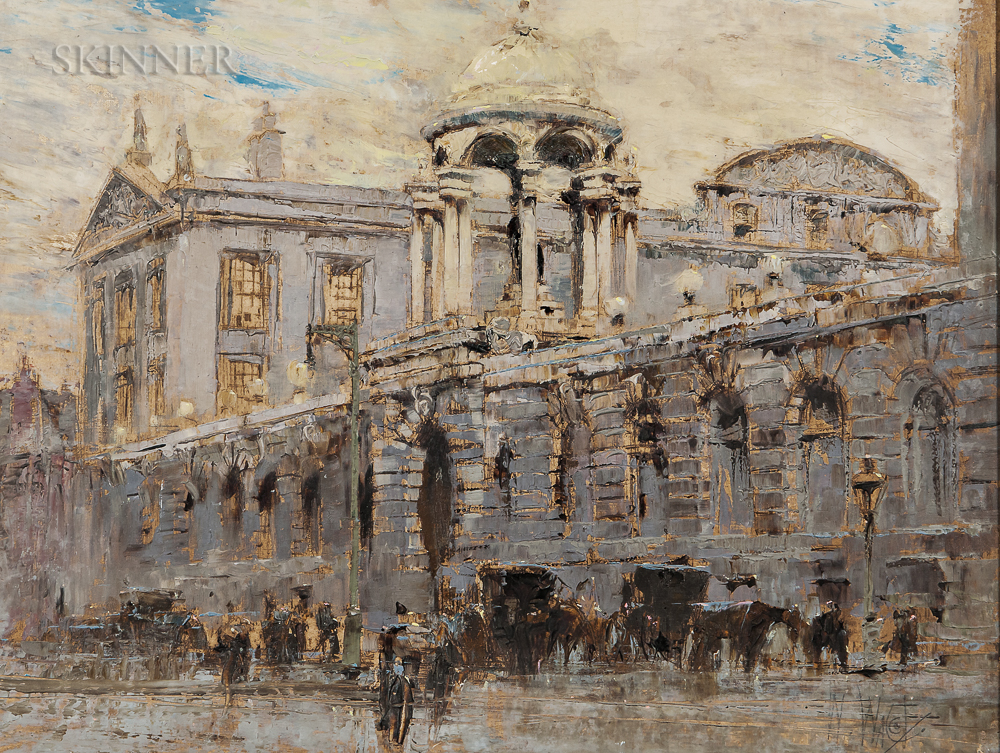 William Walcot (British, 1874-1943)      Queen's College, Oxford