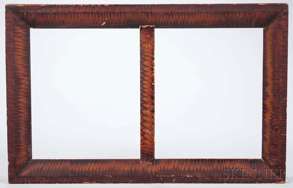 Grain-painted Pine Double Frame