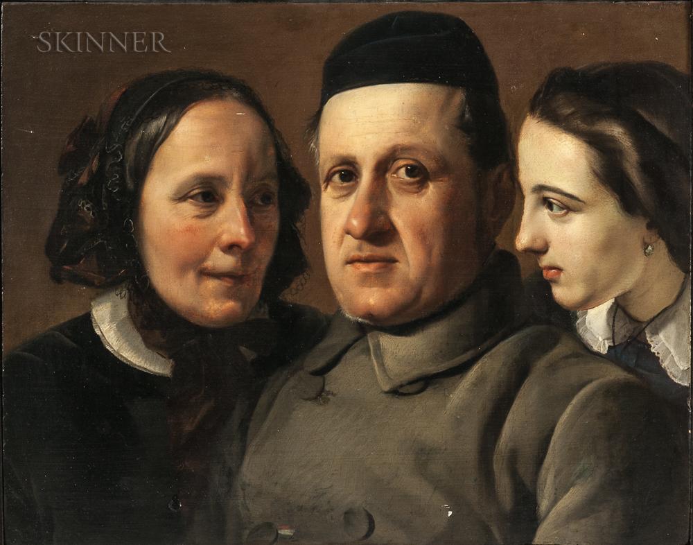 Francesco Hayez (Italian, 1791-1881)      Portraits   (Three Heads)