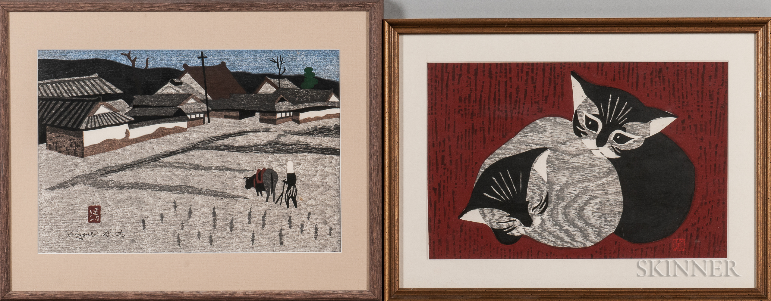 Four Color Woodblock Prints