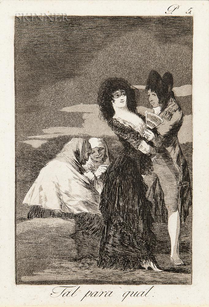 Francisco José de Goya y Lucientes (Spanish, 1746-1828)      Tal para qual