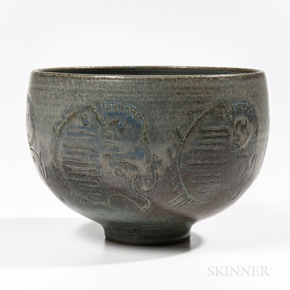 Mary and Edwin Scheier Studio Pottery Bowl
