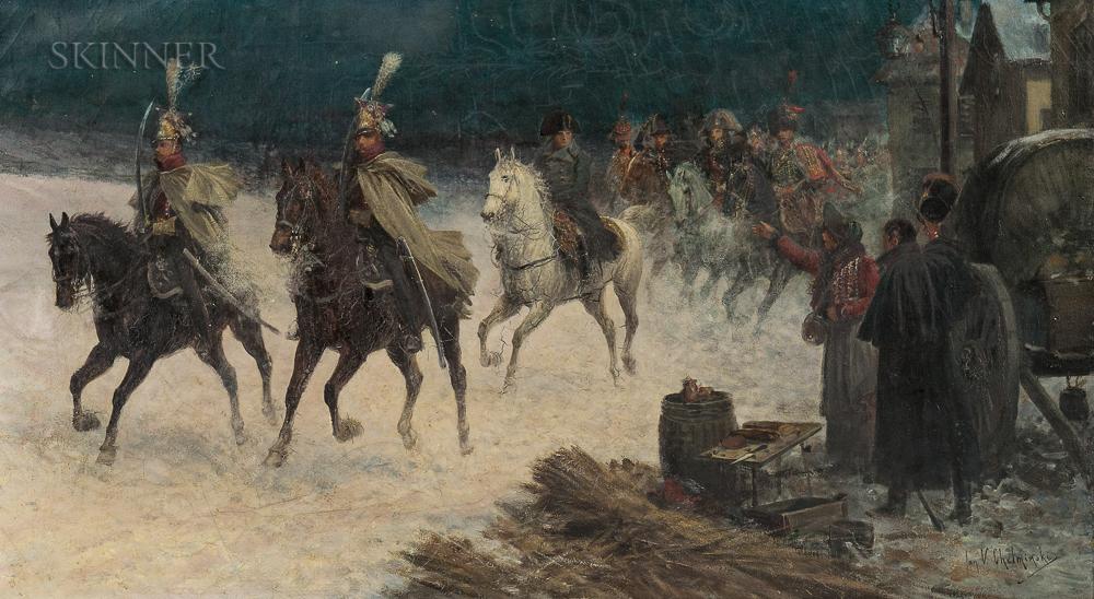 Jan Chelminski (Polish, 1851-1925)      Rheims Campaign de France 1814