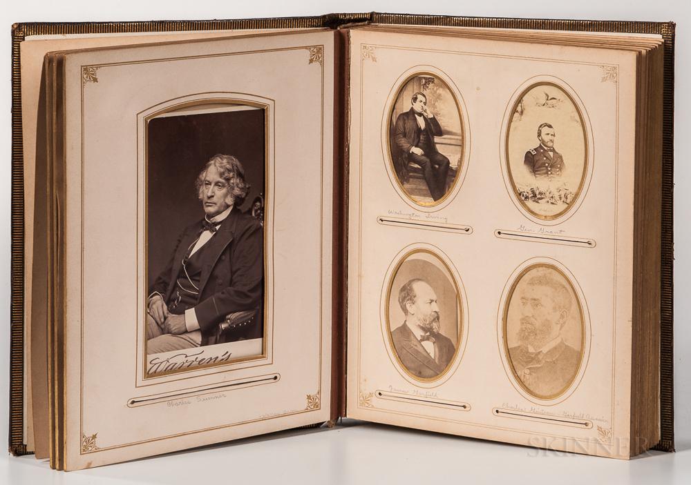 Photo Album, 19th Century, American Presidents, Civil War Generals, Writers, International Statesman, and Others.