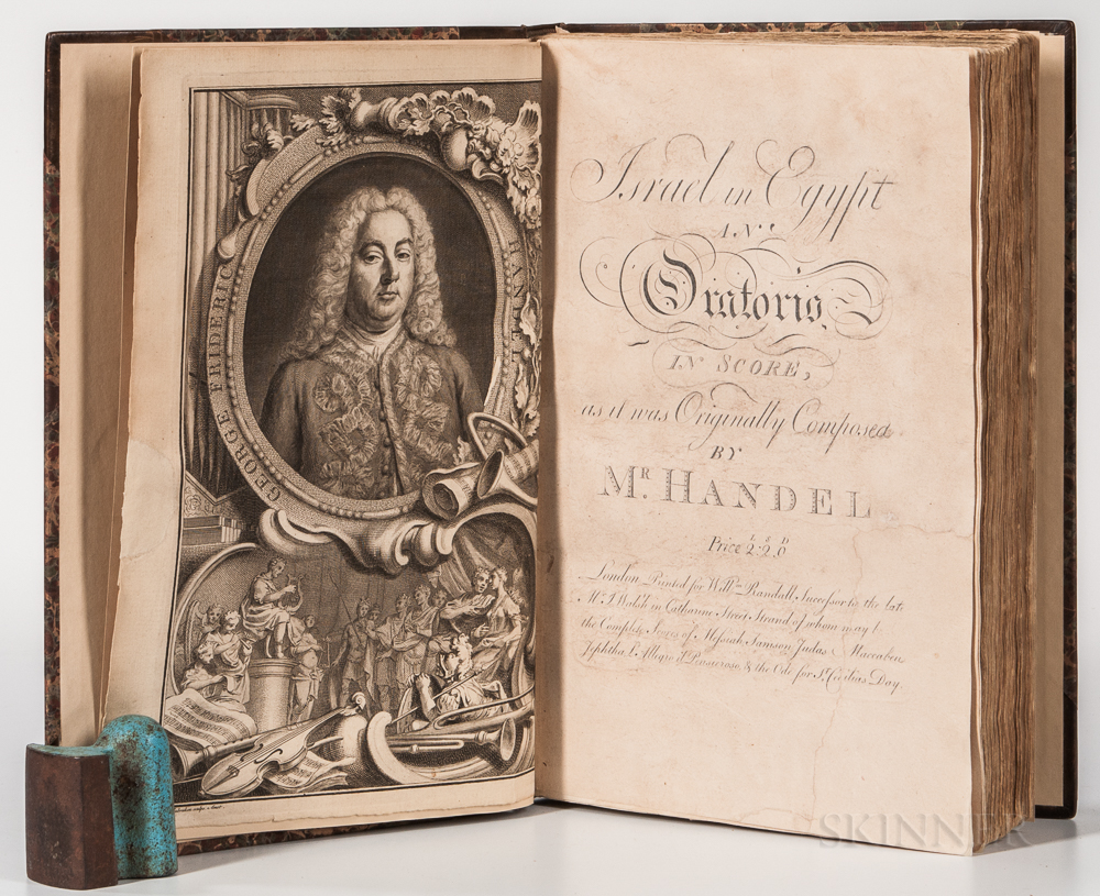 Handel, George Frideric (1685-1759) Israel in Egypt, an Oratorio, in Score, as it was Originally Composed.