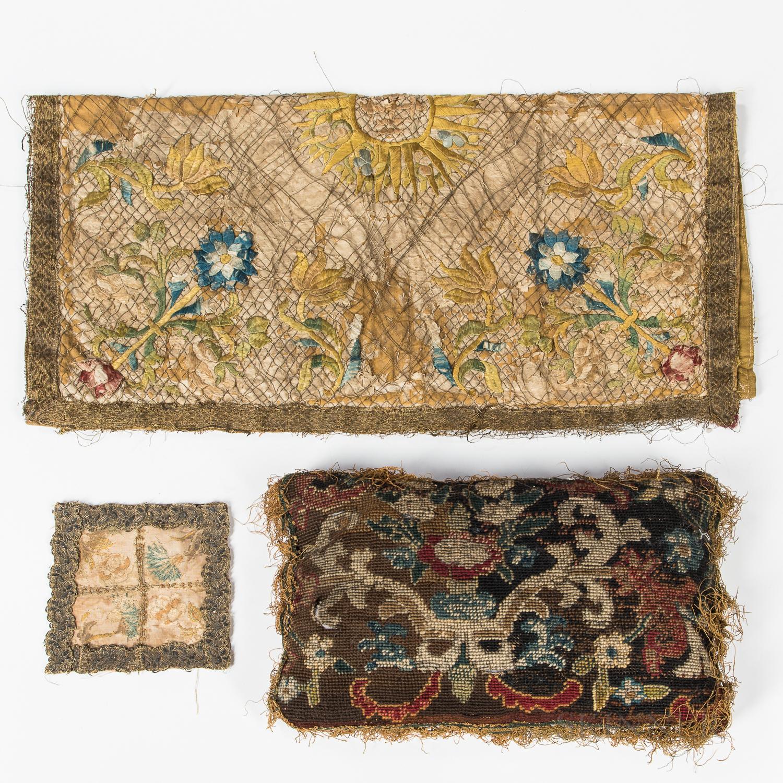 Three 17th Century Embroidered Items