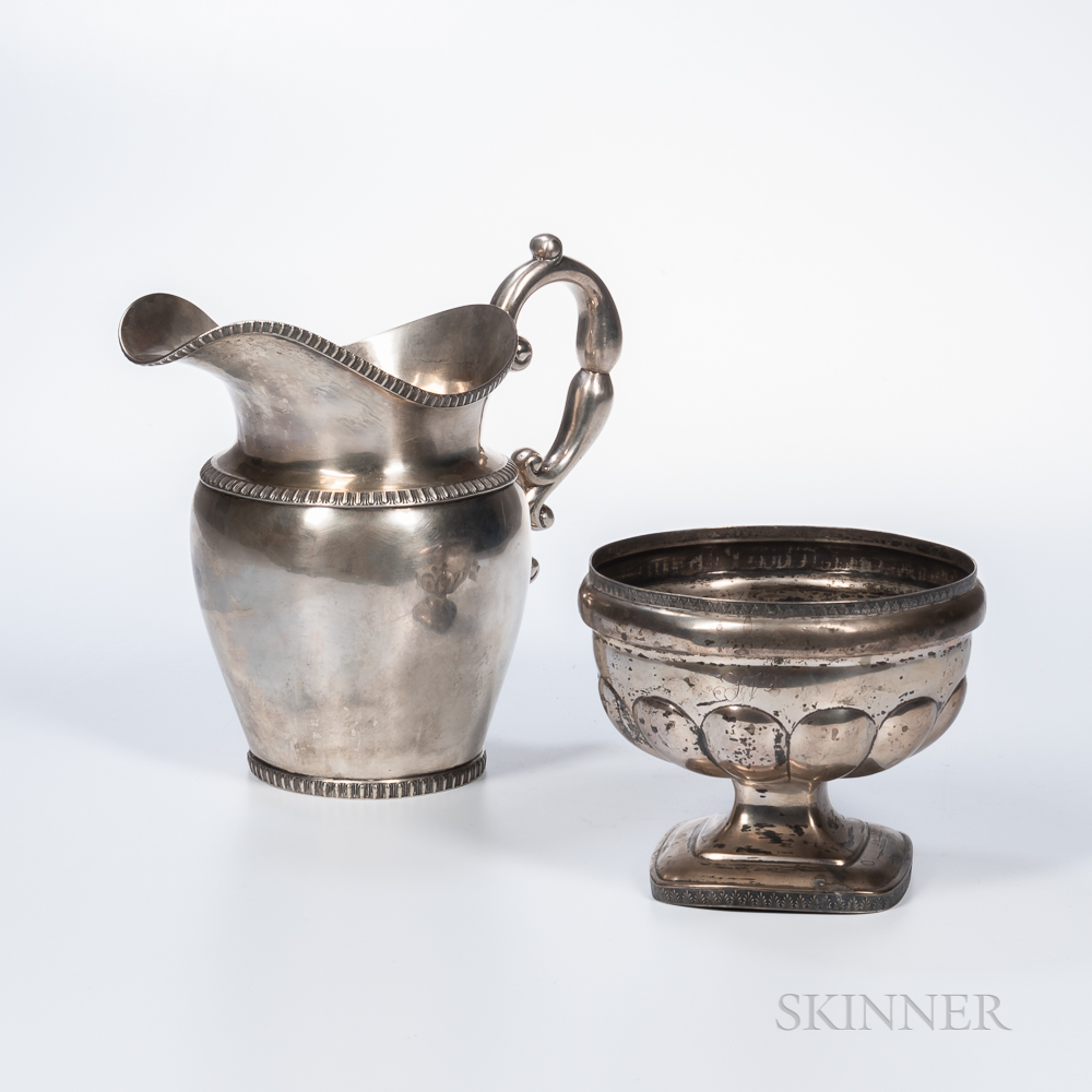 Two Pieces of American Coin Silver Hollowware