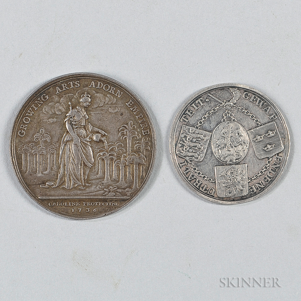Two 18th Century Silver Medals