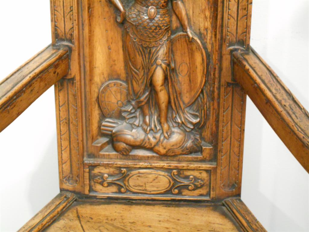 French gothic revival carved walnut caqueteuse sale