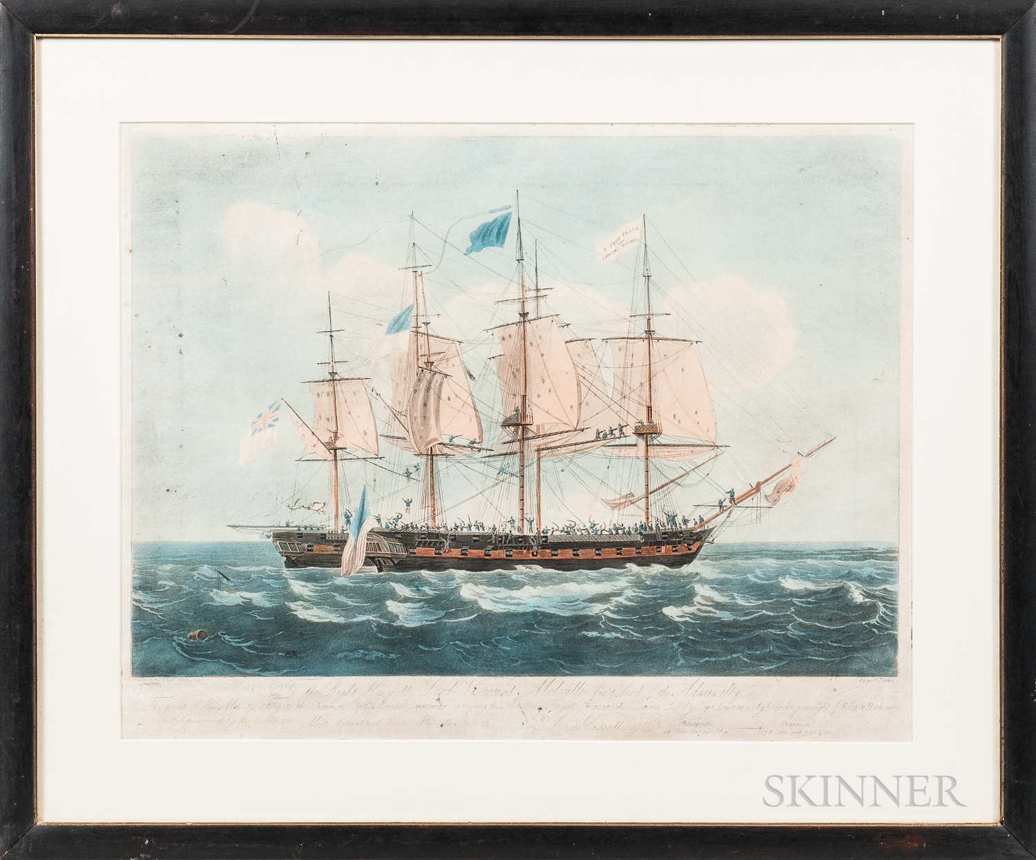 After Thomas Witcombe (United Kingdom, 1760-1824)       His Majesty's Frigate the Shannon...