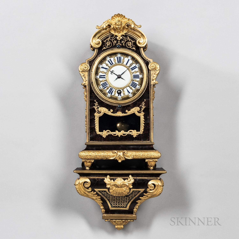 Diminutive Sicot DuJardin Console Clock and Bracket
