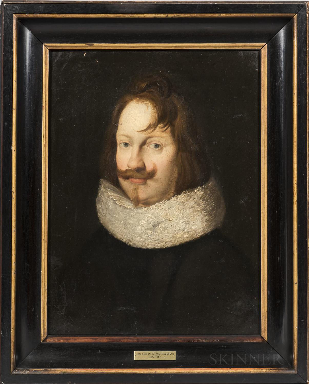 Manner of Jan Anthonisz van Ravesteyn (Dutch, c. 1570-1657)      Portrait of an Auburn-haired Gentleman in a Ruff