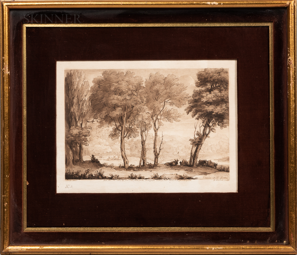 Richard Earlom (British, 1743-1822), After Claude Lorrain (French, 1600-1682)      Three Prints: Plates No. 2, 3, and 13