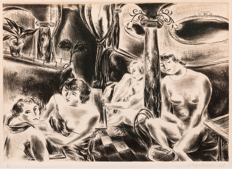 Yasuo Kuniyoshi (Japanese/American, 1893-1953)      Four Nudes
