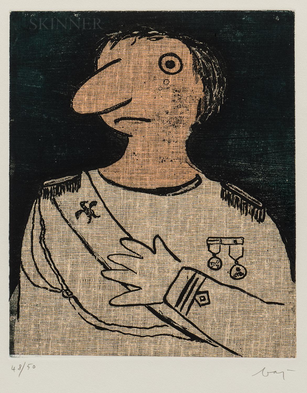 Enrico Baj (Italian, 1924-2003)      Untitled (General)