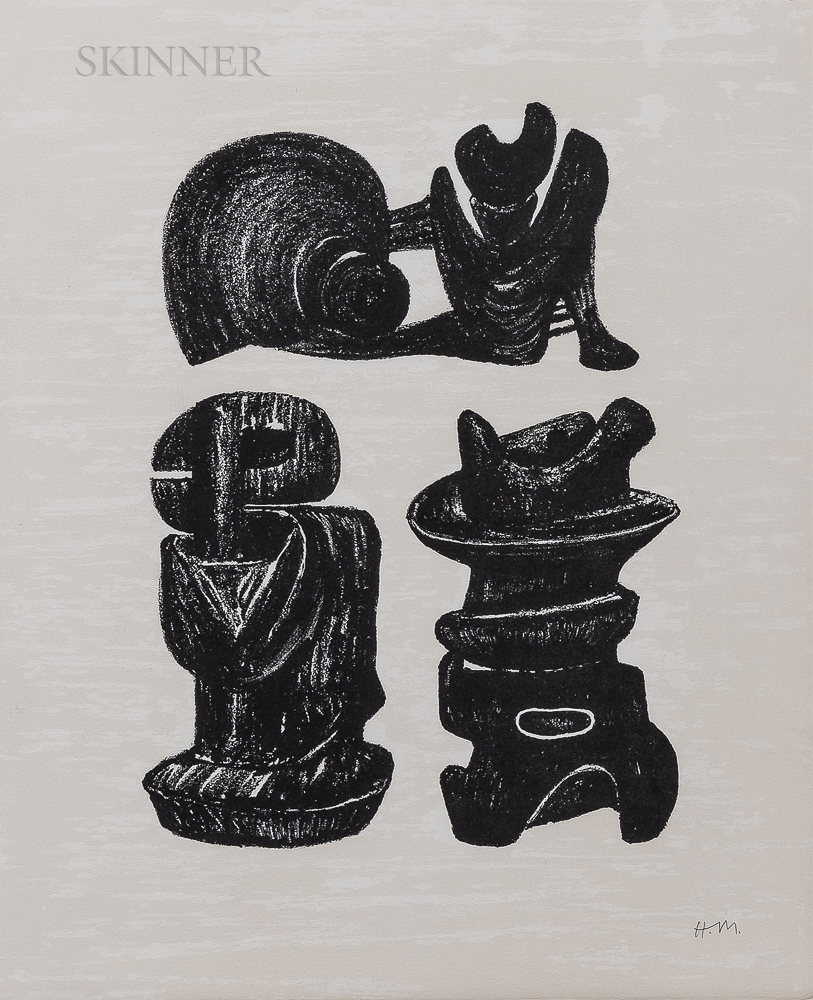 Henry Moore (British, 1898-1986)      Three Sculptural Forms