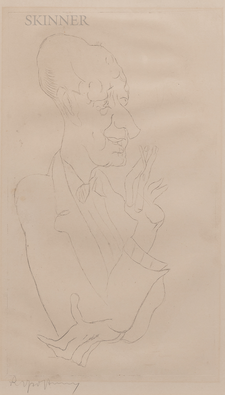 Rudolf Grossmann (German, 1882-1941)      Junker Balthaser
