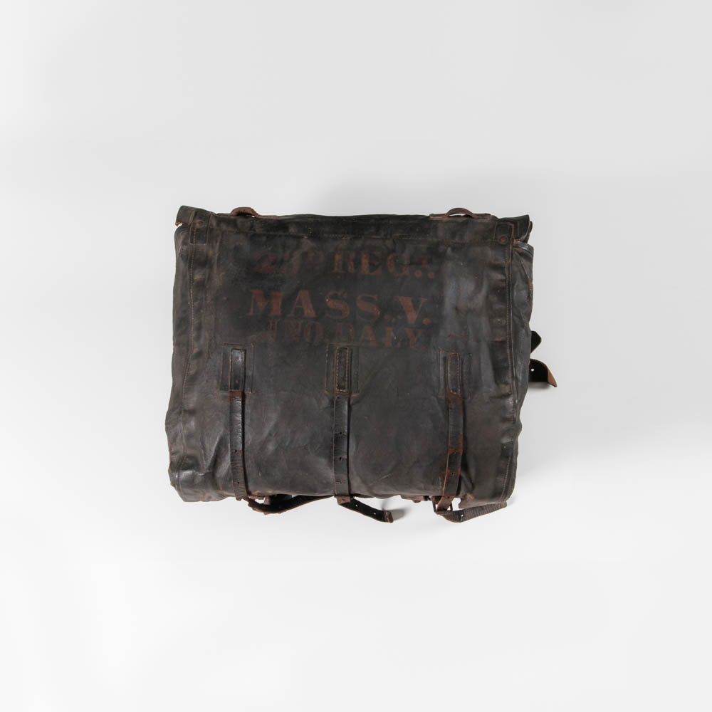 Knapsack Identified to Private John Daly, Company H, 23rd Massachusetts Volunteer Infantry