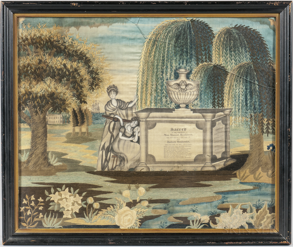 Needlework Memorial Picture