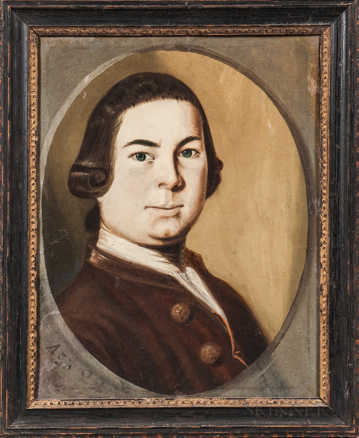 American School, Late 18th Century      Portrait of Captain Jonathan Hale