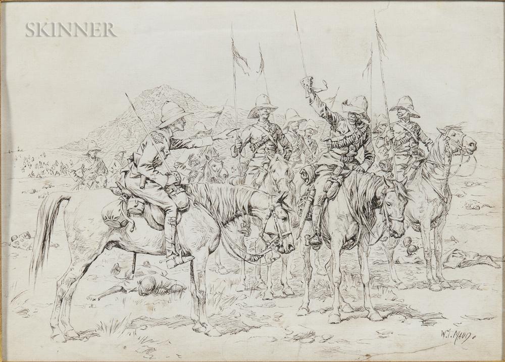 William T. Maud (British, 1865-1903), Lieutenant The Hon. de Montmorency and his Sergeant Major, Battle of Omdurman, September 2, 1898