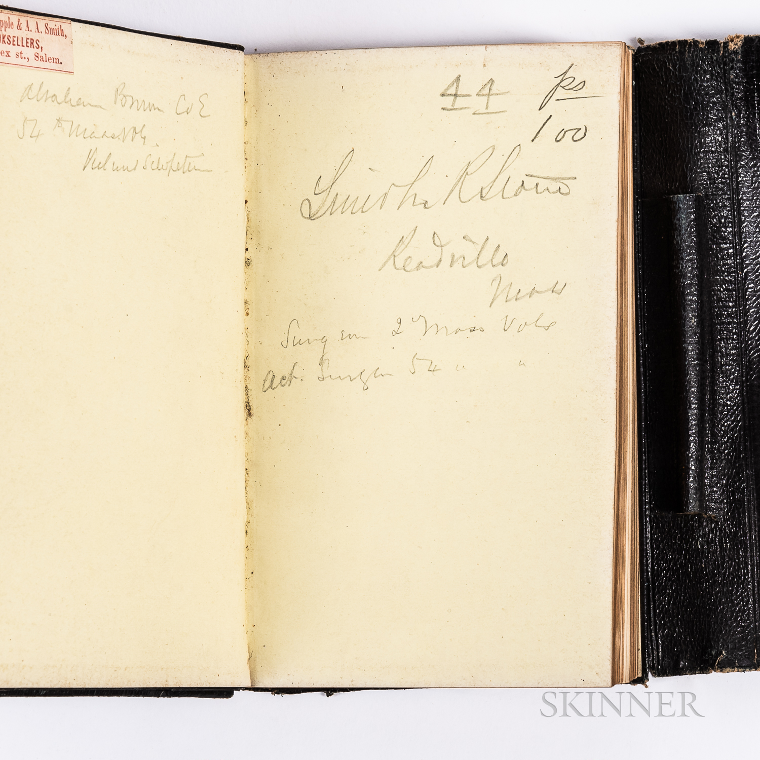 Lincoln Ripley Stone, Surgeon to the 54th Massachusetts Volunteer Infantry Regiment, 1863 Civil War Diary and Related Items.