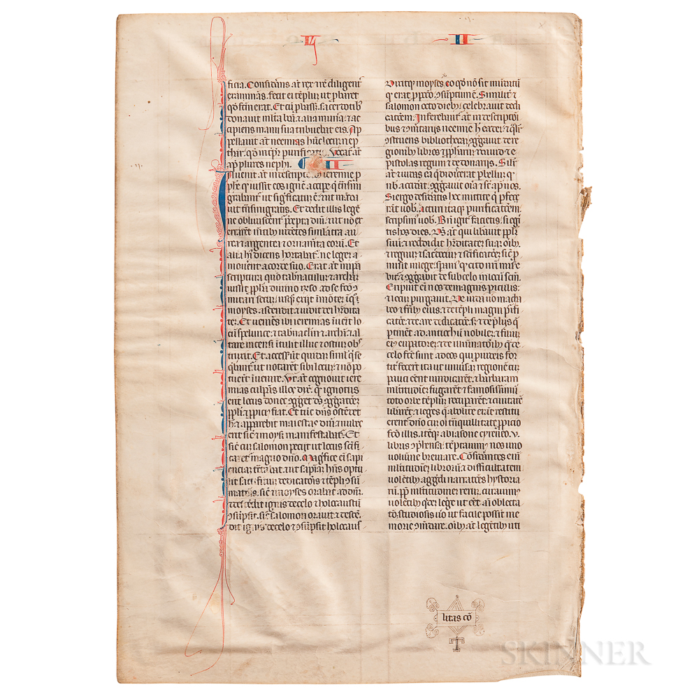 Manuscript and Early Printed Book Leaves.