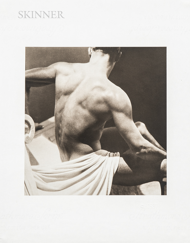 George Hoyningen-Huene (Russian/American, 1900-1968)      Two Nudes: Male Backside with Sheet