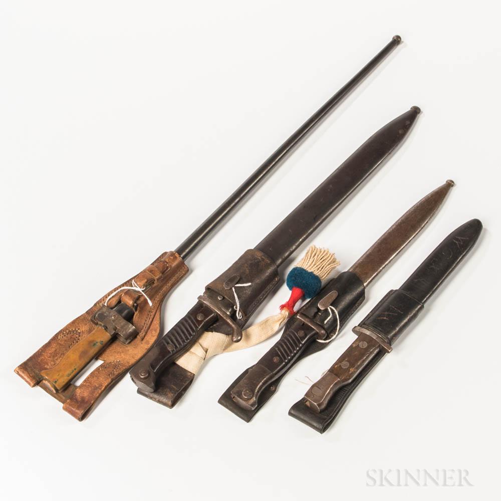 Four European Bayonets