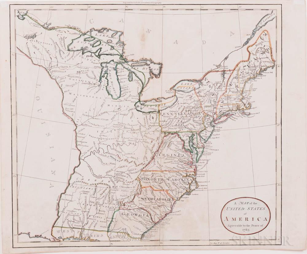 North America, United States, Four Maps, c. 1785-1818.